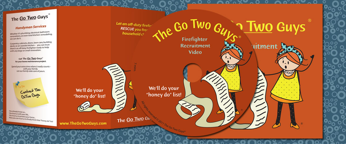 The Go Two Guys Packaging and CD Design by 11 Fingers Design