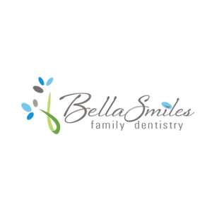 Logo for Bella Smiles family dentistry by 11 Fingers Design